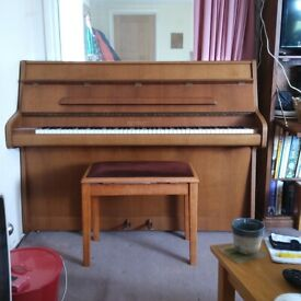 Bentley upright piano and stool