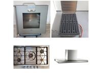 Gaggenau Oven, Gas Hob, Electric Grill and Island Extractor Appliance Bundle