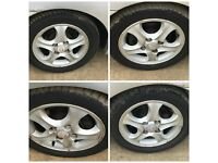 Hyundai Coupe 205-50-15 Alloy Wheels and Tyres Set of Four