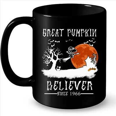 Great Pumpkin Believer Since 1966 Halloween Coffee Black Mug