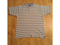 Polo shirt - Men size M - blue and white strips