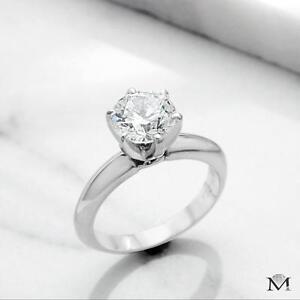 BAGUE DE FIANÇAILLES AVEC DIAMANT DE 1.55 CARAT / ENGAGEMENT RING WITH A 1.55 CARAT DIAMOND
