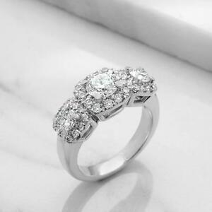BAGUE DE MARIAGE 3 DIAMANTS 1.90 CARAT TOTAL/ THREE STONE ENGAGEMENT RING 1.90 TOTAL DIAMOND CARAT WEIGHT