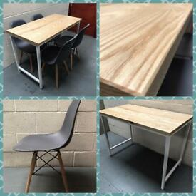 Table & chairs/powder coated frame/Solid ash table top/Industrial/Bespoke