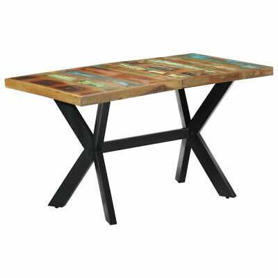 "vidaXL Dining Table 55.1"" Solid Reclaimed Wood Kitchen Dinner Dining Room Home"