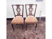 A pair of matching chairs