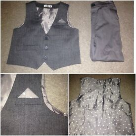 Boys grey trousers and waistcoat. REDUCED £5