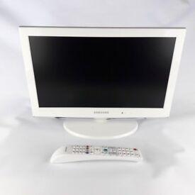 """Samsung LCD Television 19"""" White with Remote Control Model No. LE19C451E2W"""