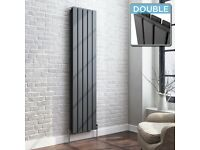 NEW Double Vertical Radiator Anthracite 1800 x 376mm 4000btu