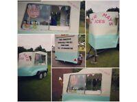 Vintage ice cream trailer