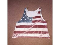 American flag top size s/m