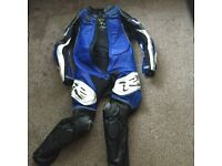 FRANK THOMAS FULL SET OF LEATHERS ONE PIECE SIZE 40 EXCELLENT CONDITION