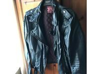 Next black leather jacket