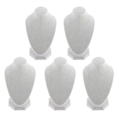 Lots 5 White Velvet Necklace Bust Display Jewelry Figure Stand 5.91x3.94