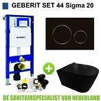 Geberit UP320 Toiletset set44 Civita Black Rimless Met Si...