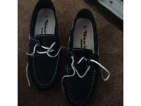 Tamaris blue and white boat shoes