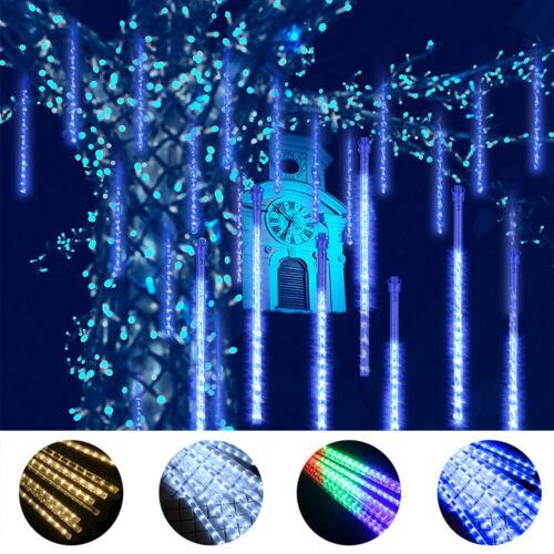 ◆DE LED Meteorschauer Regentropfen Eiszapfen Lichterkette Weihnachtsdeko Außen