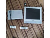 Mikomi 15 inch flat screen, wall mounted only, with Free View player included.