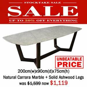 240×120cm wood top dining table was $1,799 now $899