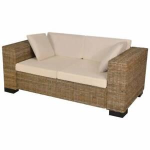 Seven Piece 2-Seater Sofa Set Real Rattan QA4V1-243245