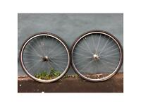 8 speed Campagnolo wheel set with Mavic rims