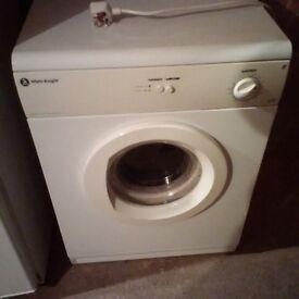 6kg White knight tumble dryer