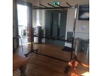 Large metal lighting rack free to a good home, useful for hanging equipment