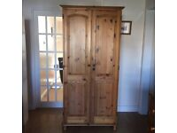Pine wardrobe and chest of drawers for sale