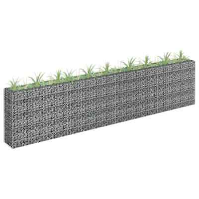 vidaXL Gabion Raised Bed Galvanised Steel 360x90cm Garden Gabion Basket Pot