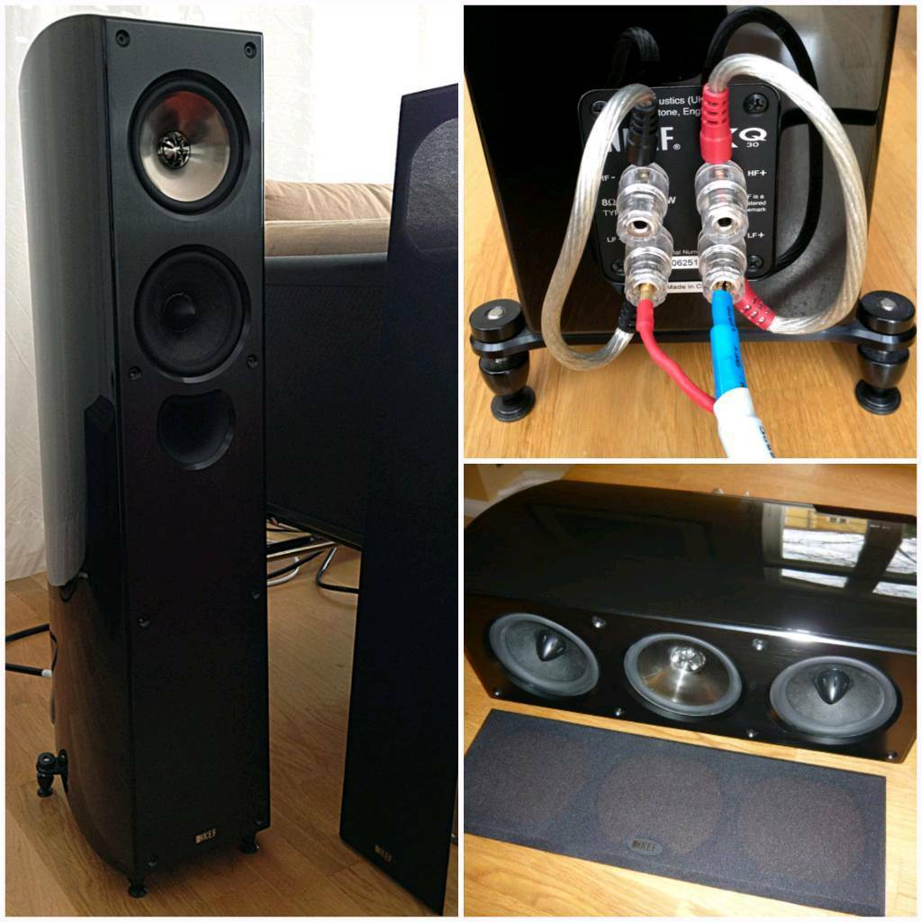 kef xq. kef xq series set of speakers (mint condition) kef xq
