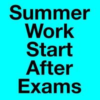 Part Time & Full Time Summer Work