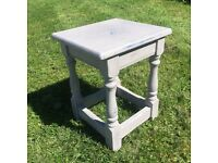 Vintage Small Distressed Shabby Chic Table