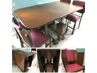 SOLID WOOD. ORGINAL TABLE + 4 CHAIRS