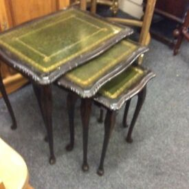 Vintage nest of 3 tables