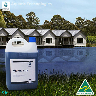 Aquatic Blue Pond Dye 5 Litre   Aquatic Weed   Algae Growth Suppressant