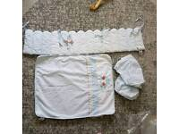 Baby crib bedding bumper blanket sheet