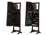Full length mirror jewellery cabinet