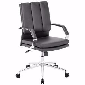 Zuo Director Pro Leatherette Office Chair - Black NEW
