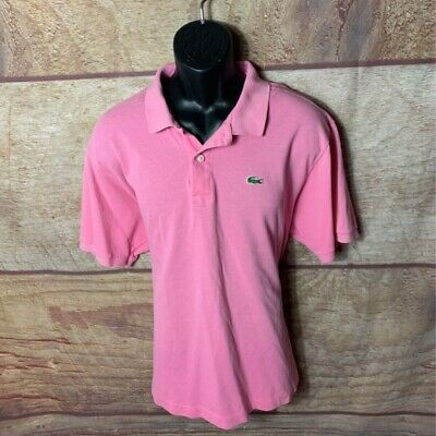 Lacoste Mens Polo Shirt Pink Short Sleeves 100% Cotton Top XXXL 8