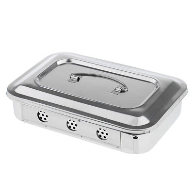 9 Stainless Steel Instrument Tray Medical Dental Storage Box Case Lid