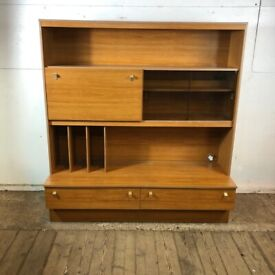 Vintage Schreiber Sideboard Display Drinks Cabinet Cupboard with Drawers