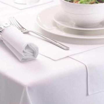 Tafellaken, wit, 132*230cm, stof, Treb SP-Tablecloth-White