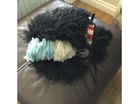 Feather Bonnet. Bagpipes