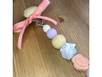 Dummy clip. Silicone teething