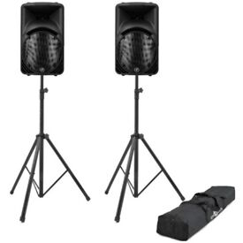 Various size sound systems ready for your iPod or dj plus lighting