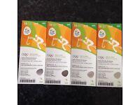 4 x Rio olympics equestrian tickets 16/8/16