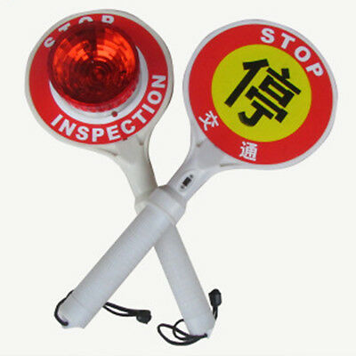 Hand Held Traffic Stop Sign Flashing Led Traffic Wand Battery Power