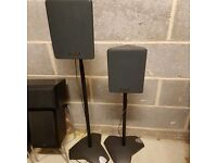 Toshiba Speakers x 2 with Alphson adjustable height stands