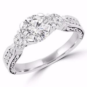 BAGUE 3 DIAMANTS 2.25 CARAT TOTAL / THREE STONE DIAMOND RING 2.25 TOTAL CARAT WEIGHT