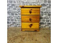 Pine Bedside Table/drawer